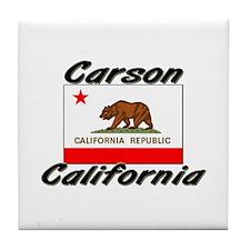 Carson California Tile Coaster