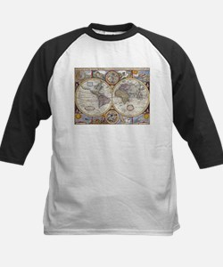 Vintage Map of The World (1626) Baseball Jersey