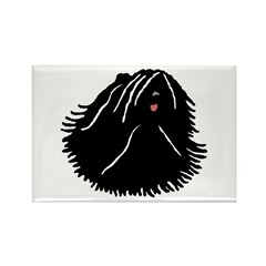Puli Dog w/ white highlights Rectangle Magnet