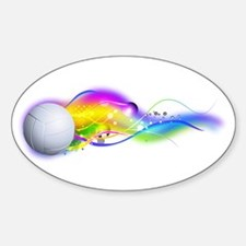 Colorful Volleyball Decal