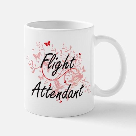 Flight Attendant Artistic Job Design with But Mugs