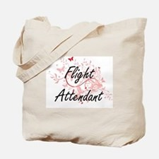 Flight Attendant Artistic Job Design with Tote Bag