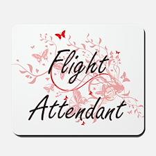 Flight Attendant Artistic Job Design wit Mousepad