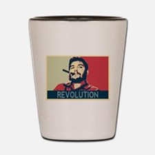 Che Guevara, hope poster landscape Shot Glass