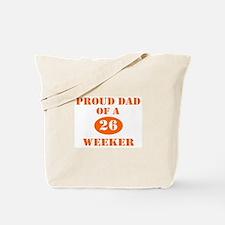 Proud Dad 26 Weeker Tote Bag