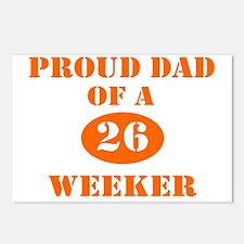 Proud Dad 26 Weeker Postcards (Package of 8)