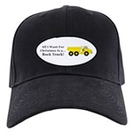 Christmas Rock Truck Black Cap