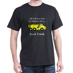 Christmas Rock Truck Dark T-Shirt