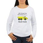 Christmas Rock Truck Women's Long Sleeve T-Shirt