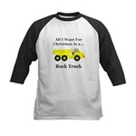 Christmas Rock Truck Kids Baseball Jersey