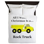 Christmas Rock Truck Queen Duvet