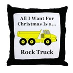 Christmas Rock Truck Throw Pillow