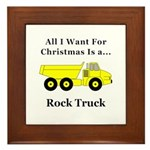 Christmas Rock Truck Framed Tile