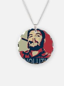 Che Guevara, hope poster squ Necklace Circle Charm