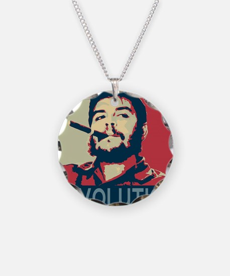 Che Guevara, hope poster squ Necklace Circle Charm