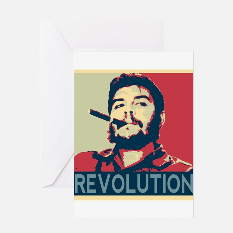 Che Guevara, hope poster square Greeting Cards