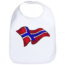 Norwegian flag of Norway Bib