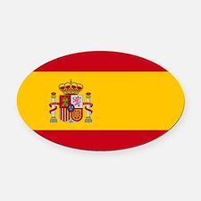 Spanish Flag Oval Car Magnet