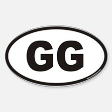 GG Euro Oval Decal