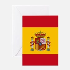 Spanish Flag Greeting Cards