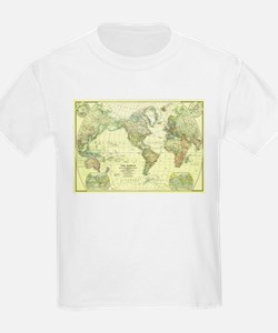 Vintage Map of The World (1922) 2 T-Shirt