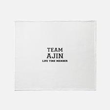 Funny Team Throw Blanket
