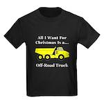 Christmas Off Road Truck Kids Dark T-Shirt
