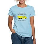 Christmas Off Road Truck Women's Light T-Shirt