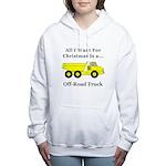 Christmas Off Road Truck Women's Hooded Sweatshirt