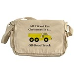 Christmas Off Road Truck Messenger Bag