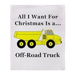 Christmas Off Road Truck Throw Blanket