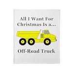 Christmas Off Road Truck Throw Blanket