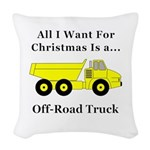 Christmas Off Road Truck Woven Throw Pillow