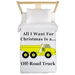 Christmas Off Road Truck Twin Duvet