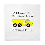 Christmas Off Road Truck Queen Duvet