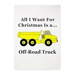 Christmas Off Road Truck 5'x7'Area Rug
