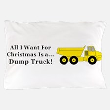 Christmas Dump Truck Pillow Case