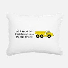 Christmas Dump Truck Rectangular Canvas Pillow