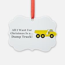Christmas Dump Truck Ornament