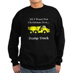 Christmas Dump Truck Sweatshirt (dark)