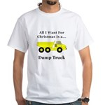 Christmas Dump Truck White T-Shirt