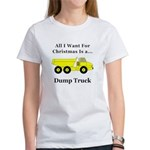 Christmas Dump Truck Women's T-Shirt