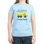 Christmas Dump Truck Women's Light T-Shirt