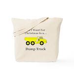 Christmas Dump Truck Tote Bag