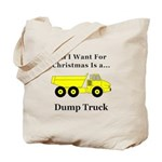 Christmas Dump Truck Tote Bag