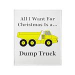 Christmas Dump Truck Throw Blanket