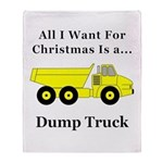 Christmas Dump Truck Throw Blanket