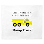 Christmas Dump Truck King Duvet
