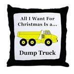 Christmas Dump Truck Throw Pillow