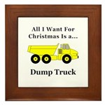 Christmas Dump Truck Framed Tile